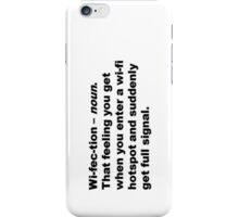 Wi-fec-tion (black) V iPhone Case/Skin