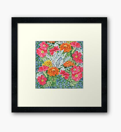 Flower Garden Framed Print