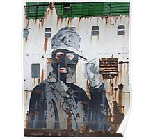 Graffiti on the side of a Ship Poster