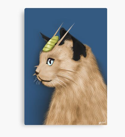 Painting Series - Meowth Canvas Print