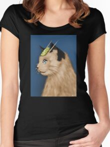 Painting Series - Meowth Women's Fitted Scoop T-Shirt