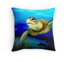 Sea Turtle Encounter Throw Pillow
