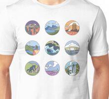 Round Tasmania Vignettes Unisex T-Shirt