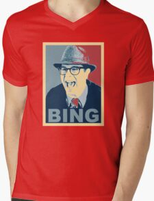 BING! Mens V-Neck T-Shirt