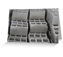 Concrete Blocks at a Construction Site Greeting Card