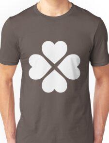 White Heart Flower Unisex T-Shirt