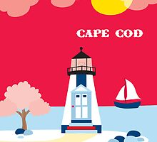 Cape Cod, Massachusetts Lighthouse Print from Loose Petals by Loose  Petals