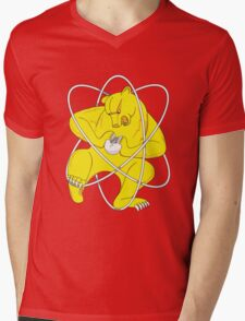 Bear Splitting Atom Zheleznogorsk Flag Mens V-Neck T-Shirt