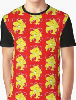 Bear Splitting Atom Zheleznogorsk Flag Graphic T-Shirt