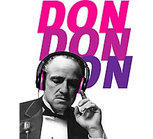 VITO CORLEONE HEADPHONE - GODFATHER Photographic Print