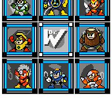 Megaman 2 Boss Select (with Sprites) by Funkymunkey