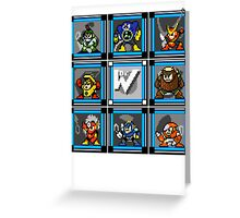 Megaman 2 Boss Select (with Sprites) Greeting Card