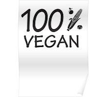 100 % vegan Poster