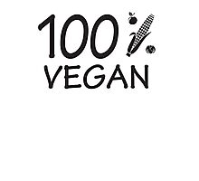 100 % vegan Photographic Print