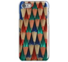 Colored Pencil Shapes iPhone Case/Skin