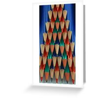 Colored Pencil Shapes Greeting Card