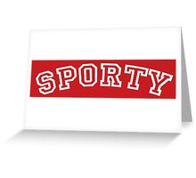 Sporty Spice Greeting Card