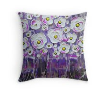 Purple Rain Blossoms IV Throw Pillow