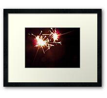 sparkler macro 2  Framed Print