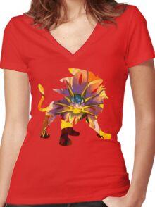 Solgaleo Women's Fitted V-Neck T-Shirt