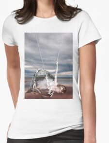 SHE'S COME UNDONE Womens Fitted T-Shirt