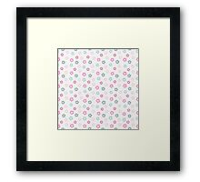 simple cute pastel floral pattern Framed Print