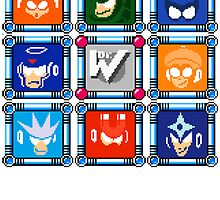 Megaman 3 Boss Select by Funkymunkey