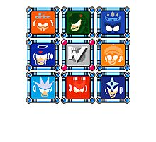 Megaman 3 Boss Select Photographic Print