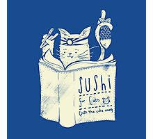 Sushi for cats - Blue Photographic Print