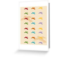 Pattern 006 Colorful Bird Shapes Greeting Card