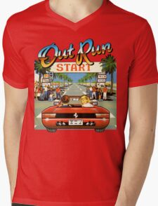 Outrun Mens V-Neck T-Shirt