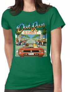 Outrun Womens Fitted T-Shirt