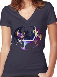 Lunaala Women's Fitted V-Neck T-Shirt