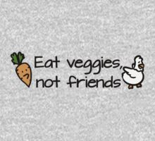 Eat veggies not friends Kids Clothes