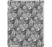 Bicycle Paisley Black and White iPad Case/Skin