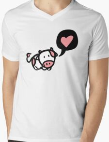 Cow in love Mens V-Neck T-Shirt