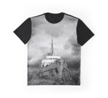 Old Ship and Stormy Clouds Graphic T-Shirt