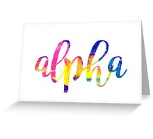 Alpha Tie Dye Greeting Card