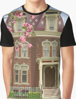 Architectural Drawing of a Southern House  Graphic T-Shirt