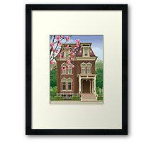 Architectural Drawing of a Southern House  Framed Print