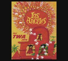 """""""TWA AIRLINES"""" Fly to Los Angeles Print One Piece - Short Sleeve"""