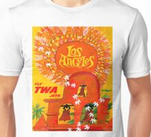 """""""TWA AIRLINES"""" Fly to Los Angeles Print Unisex T-Shirt"""