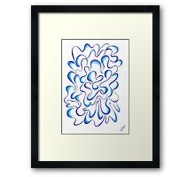 0213 - Waves Just Moving Around Framed Print