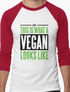 This is what a vegan looks like Men's Baseball ¾ T-Shirt