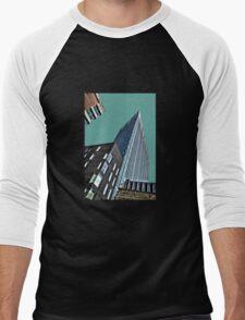 Jagged city skyline Men's Baseball ¾ T-Shirt