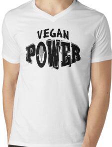 Vegan Power Mens V-Neck T-Shirt