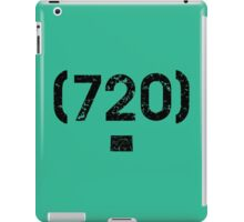Area Code 720 Colorado iPad Case/Skin