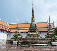 Wat Pho, the Temple of Reclining Buddha in Bangkok, Thailand by Stanciuc