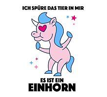 Einhorn Tier Photographic Print