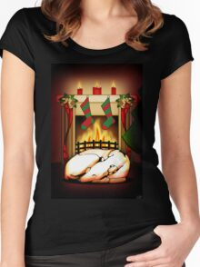Home for the Holidays Women's Fitted Scoop T-Shirt